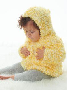 Happy Days Hoodie | Yarn | Free Knitting Patterns | Crochet Patterns | Yarnspirations
