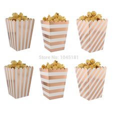 ipalmay Foil Rose Gold Paper Popcorn Boxes Striped Design Candy Snack Paper Boxes Wedding Birthday Party Decor 600pcs/lot-in Gift Bags & Wrapping Supplies from Home & Garden on Aliexpress.com | Alibaba Group