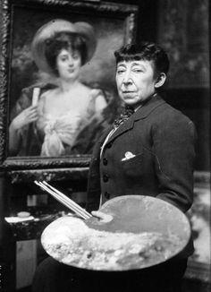 Louise Abbéma in her studio, 1914