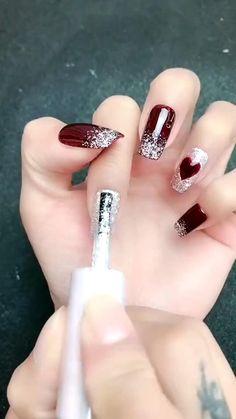 Nail Art Designs Videos, Nail Art Videos, Simple Nail Art Designs, Nail Designs, Nail Art Hacks, Nail Art Diy, Easy Nail Art, Cute Acrylic Nails, Cute Nails