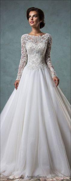 222 beautiful long sleeve wedding dresses (122)