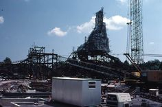 Florida Memory - Construction of Big Thunder Mountain amusement ride at the Magic Kingdom - Orlando, Florida