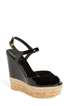 Gucci 'Hollie' Wedge Sandal $550, available here: rstyle.me/~6HWgy
