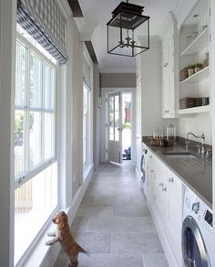 """Pulling major inspiration from this laundry room, the pup is pretty cute too!  Also some """"new to Nordstom"""" picks on the blog! Have a great night. Image via @hayburnco"""