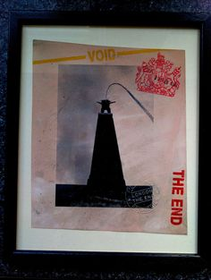 Stot21stcplanb London The End Sig Framed Print Stamped aka not banksy 2007 rare #OutsiderArt
