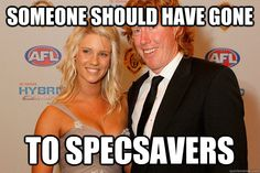 someone should have gone to specsavers afl meme Australian Memes, Aussie Memes, Football Memes, Sports Memes, Funny Memes, Hilarious, Funny Shit, Funny Stuff, Has Gone
