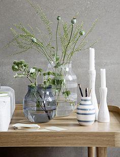 Omaggio Glas Vasen In Stahlblau U0026 Klarglas Von Kähler Design