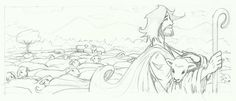 M.REDONDO- Comics: * Dibujo del Buen Pastor 2015