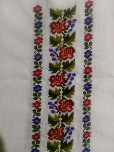 Polish Embroidery, Folk Embroidery, Hand Embroidery Stitches, Cross Stitch Flowers, Cross Stitch Patterns, Palestinian Embroidery, Diy Crafts Hacks, Romania, Costumes