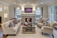 South Harriet Park New Construction Living Room Accents, Living Room Grey, Living Room Modern, Living Room Designs, Living Room Decor, Minimal House Design, Stair Decor, French Country Living Room, Luxury Homes Interior