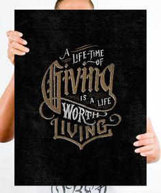 Jon Contino Poster - A Lifetime Of Giving | Help Ink