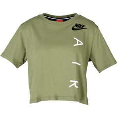 Nike T-shirt ($30) ❤ liked on Polyvore featuring tops, t-shirts, military green, green jersey, short sleeve t shirts, short sleeve tee, army green t shirt and green t shirt