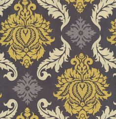 Damask  in Granite by Joel Dewberry / AVIARY 2 /  Cotton Quilt Fabric 1 yard etsy