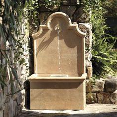 "Ballard Designs Provence Fountain - simple water feature; 45"" high"
