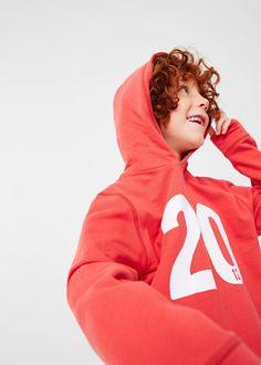 Number cotton-blend sweatshirt - Boy   MANGO Kids Denmark