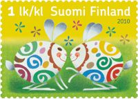 Easter twins - 1st class stamp - Suomi Finland