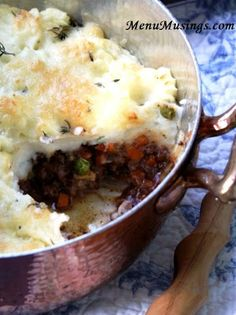 High Class Shepherd's Pie.  Step-by-step photo recipe tutorial to shepherd's pie with a beefy red wine sauce and brown butter mashed potatoes sprinkled with fresh thyme.  This is NOT your grandmother's shepherd's pie!