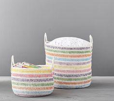 Pastel Rainbow Storage, Small is part of Playroom Organization Pottery Barn - Rainbow Room Kids, Rainbow Bedroom, Rainbow Baby, Rainbow Nursery Decor, Pastel Nursery, Pastel Girls Room, Rainbow Unicorn, Rainbow House, Rainbow Cloud