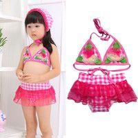 Wholesale Most lovely and cute bikinis swimwear swimming dress swimsuit surf wear beachwear beach dress bathing suit for little girls