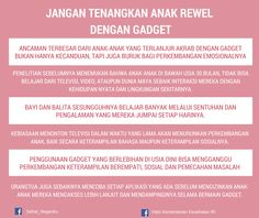 Jangan Tenangkan Anak Rewel dengan Gadget ~ Infografis Kesehatan Practical Parenting, Gentle Parenting, Kids And Parenting, Parenting Articles, Parenting Hacks, Baby Growth, Reminder Quotes, Pregnancy Health, Children And Family