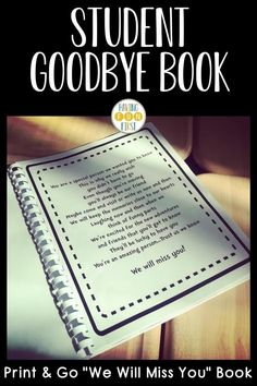 If you have a student that's moving soon or a student teacher is finishing up in your classroom, this print & go student moving book is the perfect way to say goodbye! With editable book covers, letter writing templates, picture pages & more, the student goodbye book allows each student to get a chance to say goodbye. See the previews and what other teachers are saying and grab yours now! Letter To Students, New Students, 4th Grade Activities, Letter Writing Template, Goodbye Letter, Teacher Must Haves, Pen Pal Letters, Student Teacher, Writing Resources