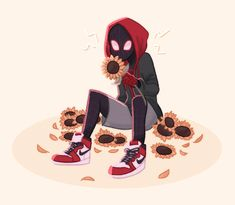 Can you do Miles Morales x Reader where they're celebrate Valentine's day together and also fluff too? Character Drawing, Comic Character, Character Design, Marvel Fan, Marvel Avengers, Spiderman Kunst, Spider Verse, Marvel Cinematic Universe, Comic Art