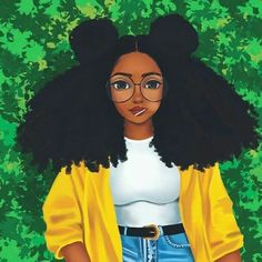 Black Girl Cartoon pictures) ⭐ Pictures for any occasion! Black Love Art, Black Girl Art, My Black Is Beautiful, Black Girl Magic, Black Girls, Art Girl, Black Women, Natural Hair Art, Natural Hair Styles