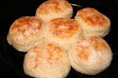 Greek Yogurt Biscuits :  These biscuits aren't the typical tender Southern-style biscuit—they're a little less fluffy, more hearty and virtually fat-free.