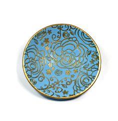 Aqua Blue Wedding Ring Dish polymer clay Bowl by BeadazzleMe