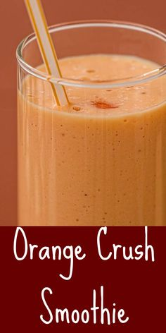 Orange Crush Smoothie is a refreshing drink made with Orange Crush soft drink, vanilla ice cream and orange sorbet. So easy to just blend and drink. Perfect for breakfast or a midday snack. #smoothie #recipe #drink #orangecrush