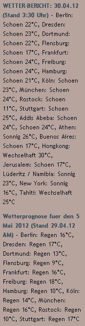 WETTER-BERICHT: 30.04.12 (Stand 3:30 Uhr) - http://www.schoeneswetter.com/wetterwuensche/wetter-2012/april-2012/wetter-30-april-2012.php