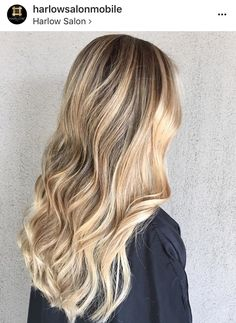 Bronze Balayage with pops of bright blonde