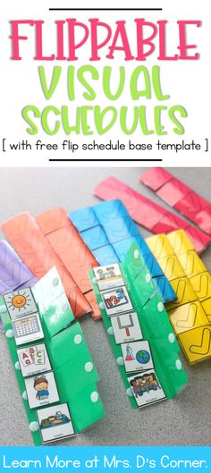 FREE Flip Visual Schedule Base Template Visual schedules are a great way to help students manage their school day and see what is coming next Video tutorial and picture h. Special Education Schedule, Visual Schedule Preschool, Visual Schedule Autism, Kindergarten Special Education, Special Education Activities, Visual Schedules, Special Education Teacher, In Kindergarten, Early Education