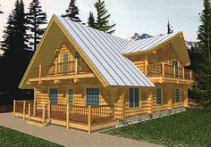 dream home - there is just something about log cabins <3