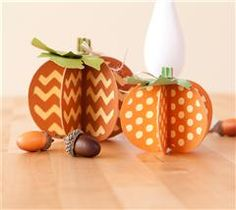 Celebrate autumn with these whimsical 3D pumpkins!