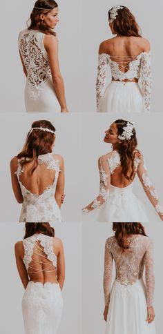 Beautiful Bridal Backs from Nora Sarman Bridal / Bella / Bartok / Bellini / Beatrix / Beethoven / Bronte