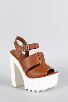 Wild Diva Lounge Lug Sole Platform Heel