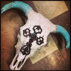 Never been a fan of cow skulls, but this would look awesome right smack dab center of my cross wall!
