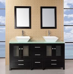 Arlington 61in Double Sink Vanity Set in Espresso DEC072B-G
