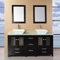 Arlington 61in Double Sink Vanity Set in Espresso DEC072B-G