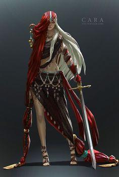 Whaler Girl Characters - Cara by Zephyri