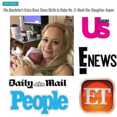 'Bachelor' Alum Erica Rose Gives Birth to Her Second Child! As Featured in People Magazine, US Magazine, MORE.