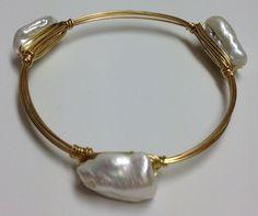 www.excentricities.com Wire & Stone Bracelet (12) #bourbonandboweties #armcandy #wedding