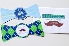 Love these invites & this whole theme for a little man baby shower!