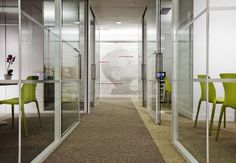 glass walled offices