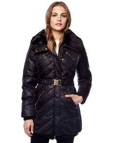 MICHAEL Michael Kors  Belted Puffer Coat.