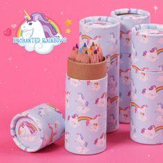 Lápices de colores de regalo para los más pequeños de la casa. Estos pertenecen a la colección de unicornios de fantasía y harán que vuele su imaginación. #unicornios #nubes