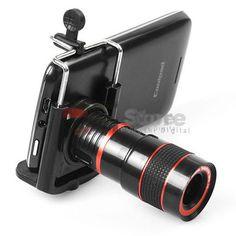 8x Zoom Optical Lens Telescope + universal holder For Camera Mobile Cell Phone #Unbranded