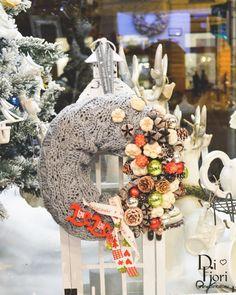 Christmas wreath, door hanger / Adventi kopogtató