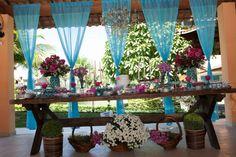 casamento azul e rosa
